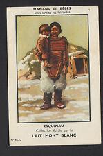 IMAGE LAIT MONT BLANC de RUMILLY (74) / ESQUIMAU / MAMAN avec son BEBE