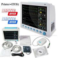 CO2 Capnograph Patientenmonitor + Drucker 7 Parameter ETCO2 Vital Signs Monitor