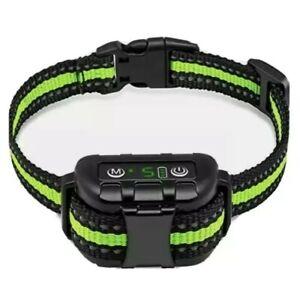 No Bark Collar Rechargeable Anti-bark Adjustable Collar Training Tool Green