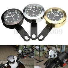 Waterproof Motorcycle Handlebar Dial Clock Mount For Harley Honda Suzuki