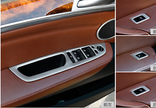 Inner Accessories Trim Window Switch Button Cover Steel For BMW X6 E71 2009-2014