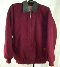 PAINTED MESA LEATHER COLLAR RELAXED FIT FARM COAT MEN'S 2XLT CHORE JACKET