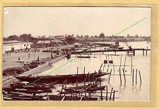 Carte photo cpa - Quai de Saint Louis sur le bras du fleuve Sénégal al026