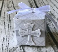 50x Paper Favour Baptism Christening Gift Box Bomboniere Chocolate Candy Boxes