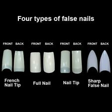 Natural White Clear Full Half French Design False Fake Nail Art Tip Pack of 500