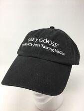 Grey Goose Vodka Hat Cap Black Adjustable Baseball Style