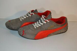 Puma Men's Gray and Red Vintage Waffle 70's Retro Sneakers USA made Shoes Sz 8