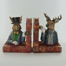Dapper Animals Hare & Stag Bookends.Sculpture / Figurine.New