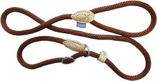 """HEMMO&CO SUPER SOFT TOUCH STRONG BROWN HALTER ROPE SLIPLEAD LARGE 1.4MM 60""""150CM"""