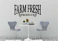 Farm Fresh Produce Inspired Design Farmhouse Decor Wall Art Decal Vinyl Sticker