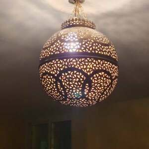 Moroccan pendant light, chandelier, ceiling lamp, 5 colors available, Moroccan
