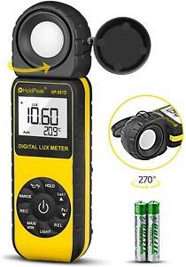 HoldPeak 881D Digital Luxmeter 400000Lux Handheld Light Meter BarGraph Tester UK