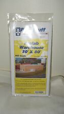 Pikestuff HO Scale 30' x 80' Prefab Warehouse Item #541-0004 New in Pcakage