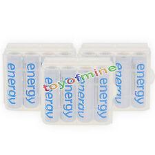 12xAA 3300mAh Energia batteria ricaricabile bianco per MP3 RC+3xCaso