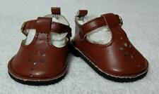 "Fits 18"" Magic Attic Doll - Rusty-Brown T-Strap Shoes - D1711"
