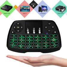 Rii i8+BT LED Backlit Mini Bluetooth Wireless Keyboard with Touchpad Mouse CA