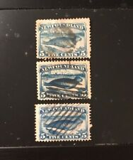 Stamps Canada Newfoundland Sc53,Sc54 & Sc55 blue seal set - see description