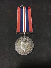 Vintage Great Britain WWII Defense Medal 1939 - 1945 King George VI
