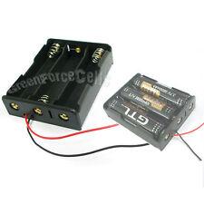 "2 x 3 18650 17650 Li-ion LiFePO4 Battery Holder Case box w/ 6"" Wire Lead"