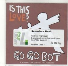 (CA844) Is This Love?, Go Go Bot - 2011 DJ CD