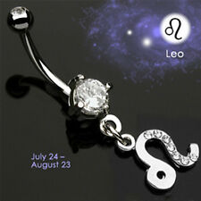 Bauchnabel Piercing Schmuck Sternzeichen Löwe Anhänger Horoskop Astro