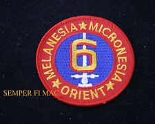 US MARINES 6TH MARINE DIVISION COLLECTOR PATCH MELANESIA MICRONESIA ORIENT USMC