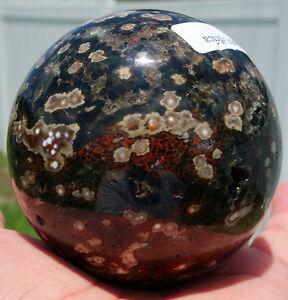 3 Inch OCEAN JASPER Crystal Sphere Ball Orbicular Quartz South Africa For Sale