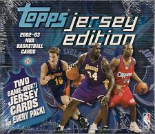 2002-03 Topps Jersey Edition Factory Sealed Basketball Hobby Box (10 Packs)