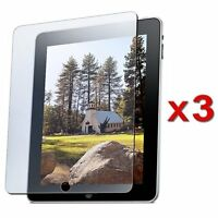 3X Clear LCD Scratch/Dust Resistant Screen Protectors For Apple iPad 2 / iPad 3