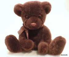 Russ Berrie Teddy Bear Tartufo Chocolate Brown Plush 12.5in Seam Tag Soft Cuddly