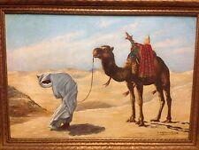 Camel Jockey with camel, Artist G Lefebvre Velay Painting