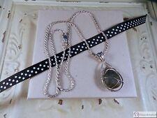 "Labradorite Sterling Silver Pendant & 18"" Diamond Cut Rope Chain"