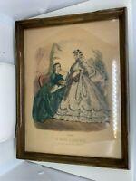 "La Mode Illustree 1862 No. 124 Paris Ladies Women Fashion Vtg Print 9"" x 12"""