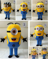 Halloween Unisex Despicable Me 2 Minion Mascot Costume Fancy Dress Adults  New
