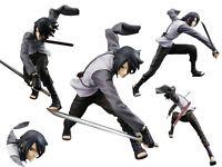 Japan Anime Naruto Shippuden Uchiha Sasuke PVC Figuren Figur Battle 17cm No Box