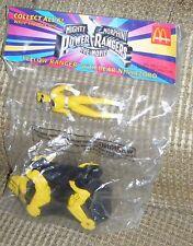 1994 YELLOW RANGER w/ BEAR NINJAZORD Mighty Morphin Power Rangers McDonalds MIP