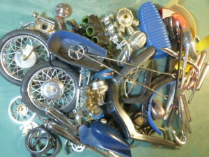 Misc. Vintage Cycle Junkyard Parts Lot Various Brands and Scales 1/8 1/12 1/16