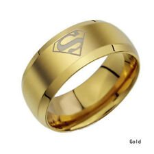 Ring Superman Logo Wedding Sz 6-14 Fashion 8Mm Stainless Steel Titanium Men Band