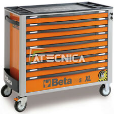 Carrello lungo Beta C24SA-XL 9 cassetti arancio con sistema antiribaltamento