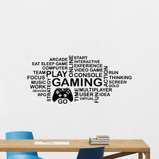 Video Game Wall Decal Gaming Words Cloud Playroom Vinyl Sticker Art Decor 112quo