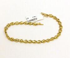 """14K YELLOW GOLD  DIAMOND CUT FANCY LINKS  BRACELET 7""""  LONG  NIB # J276"""