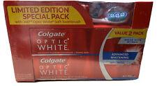 Colgate Optic White Sparkling Advanced Whitening 5.0 oz Tube Value 2 Pk & Brush