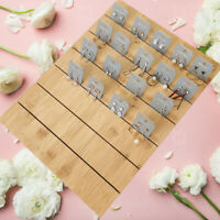 Wooden Earring Ear Holder Studs Cards Jewelry Rack Bambook Display Stand Board