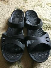 Gently Used Crocs Black sandals Size 10