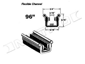 """Flexible Window Channel, 96"""" long, Fits:1948-1962 Hudson, Nash and many more"""