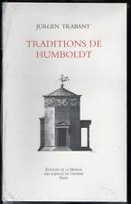 Jürgen TRABANT. Traditions de Humboldt. MSH, 1999.