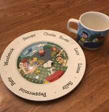 Peanuts Characters Johnson Bros Plate & Mug. Made In England