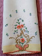 """Gorgeous Colorful Madeira Embroiderd Fine Linen Hand Towel 20""""x 13"""""""