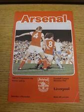 02/12/1978 Arsenal v Liverpool  (Slight Creased)