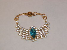"""Blue Center Stone Rhinestone Necklace for Ellowyne and other 16"""" dolls"""